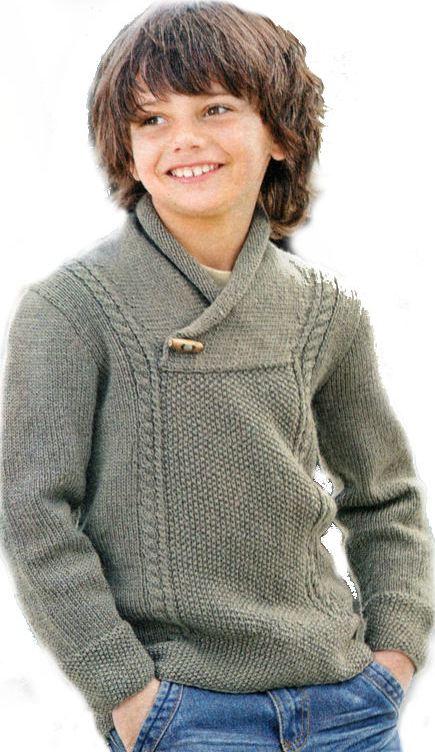 Вязание спицами джемпера для мальчика